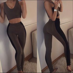 Oh Polly double lined leggings set